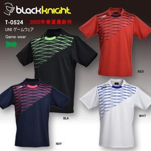 バドミントン スカッシュ ブラックナイト BLACK KNIGHT ユニ UNI ゲームシャツ バドミントン ウェア  バドミントン協会公認 ゲームウェア  T-0524|aimagain