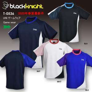 バドミントン スカッシュ ブラックナイト BLACK KNIGHT ユニ UNI ゲームシャツ バドミントン ウェア  バドミントン協会公認 ゲームウェア  T-0536|aimagain