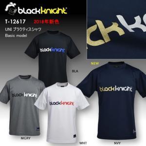 2018新色追加 ブラックナイト BLACKKNIGHT バドミントン スカッシュ  ユニ ウェア  半袖プラクティスシャツ Tシャツ プラシャツ T-12617
