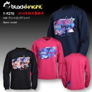 2019最新作 ラックナイト BLACK KNIGHT バドミントン スカッシュ  ユニ ウェア  長袖プラクティスシャツ Tシャツ プラシャツ T-9270