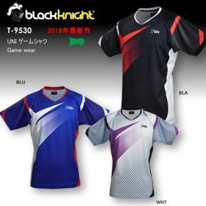 バドミントン スカッシュ ブラックナイト BLACK KNIGHT 日本製 ユニ UNI ゲームシャツ バドミントン ウェア  バドミントン協会公認 ゲームウェア  T-9530|aimagain