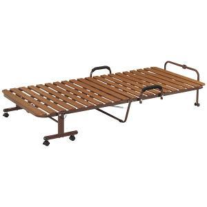 すのこベッド 折りたたみ式 シングルベッド スチールフレーム スノコベッド 折り畳みベッド 簡易ベッド キャスター付|aimcube|03