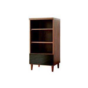 モダン光沢仕上げ,マルチシェルフ45cm幅,おしゃれ収納家具,本棚,書棚,飾り棚,引出付,リビング収納 aimcube