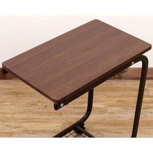 コの字型 サイドテーブル 網棚付き ベッドテーブル 介護 介護用テーブル 簡易テーブル 補助台 キャスター付|aimcube|04