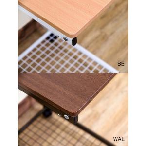 コの字型 サイドテーブル 網棚付き ベッドテーブル 介護 介護用テーブル 簡易テーブル 補助台 キャスター付|aimcube|05