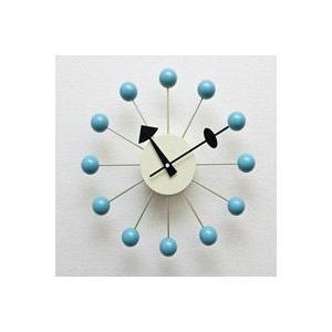 ジョージ・ネルソン,ボールクロック/ブルー単色,ネルソンクロック,壁掛時計,掛け時計,デザイナーズ|aimcube