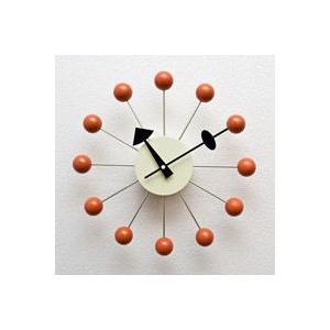 ジョージ・ネルソン,ボールクロック/オレンジ単色,ネルソンクロック,壁掛時計,掛け時計,デザイナーズ|aimcube