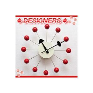 ボールクロック/赤(レッド),ネルソンクロック,ウォールクロック,ジョージ・ネルソン掛け時計,壁掛時計,デザイナーズクロック|aimcube