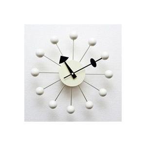 ジョージ・ネルソン,ボールクロック/ホワイト単色,ネルソンクロック,壁掛時計,掛け時計,デザイナーズ|aimcube