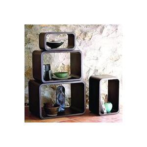 木製 キューブラック 4個セット オープンラック 曲げ木ラック 飾り棚 完成品