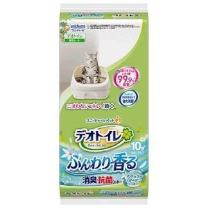 ユニチャーム デオトイレ 1週間消臭・抗菌ふんわり香るシート ナチュラルガーデンの香り 10枚入 システムトイレ用|aimu
