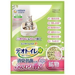ユニチャ−ム デオトイレ ふんわり香る消臭・抗菌サンド 爽やかなホワイトフローラルの香り 3.8L|aimu