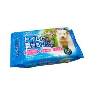 ペットプロジャパン トイレに流せるウエットティッ...の商品画像