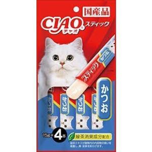 【メール便専用・同梱不可】いなば CIAO(チャオ) スティック かつお 15g×4本|aimu