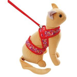 日本猫によく似合う  猫の体の特徴をふまえて考えた和柄の猫専用ハーネス。 猫は体が柔らかいため、首・...