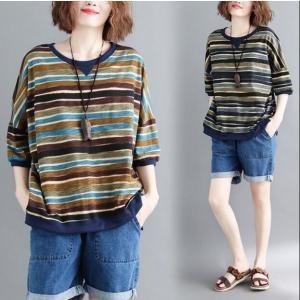 レディース トップス 半袖 Tシャツ ファッション シャツ 上着 ブラウス 大きいサイズ 着痩せ 春夏 ainio