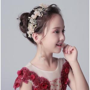 子供髪飾り ヘアアクセサリー ヘアピン カチューシャ ヘアバンド可愛い 七五三 結婚式 ピアノ発表会 二次会 ダンス演出 キッズ髪飾り|ainio