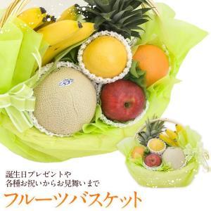 メロン フルーツ くだもの 果物 桃の節句 ひなまつり ホワイトデー【季節 の フルーツ バスケット( 静岡クラウンメロン入り)】|aino-kajitu