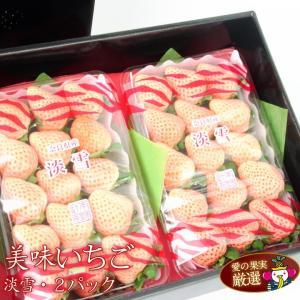 イチゴ 苺 果物 くだもの フルーツ 端午の節句【人気&厳選 いちご ギフト B 奈良産 白いちご (淡雪 あわゆき)2パック入】|aino-kajitu