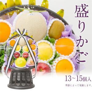 御供 フルーツ くだもの 果物【送料無料】果物 盛りカゴ (高級 静岡マスクメロン 1個必ず入ります)|aino-kajitu