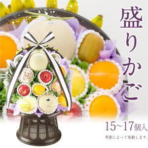 御供 フルーツ くだもの 果物【送料無料】果物 盛りカゴ (高級 静岡マスクメロン 2個入)|aino-kajitu