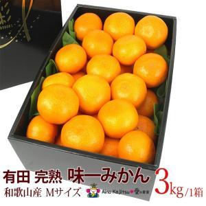 【有田 完熟「味一 みかん」(和歌山産)Mサイズ 3kg】ミカン 蜜柑 柑橘 フルーツ 果物 くだもの ハロウィン お歳暮 お年賀 七五三 aino-kajitu