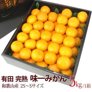【有田 完熟「味一 みかん」(和歌山産)2S〜Sサイズ 5kg】ミカン 蜜柑 柑橘 フルーツ 果物 くだもの ハロウィン お歳暮 お年賀 七五三 aino-kajitu