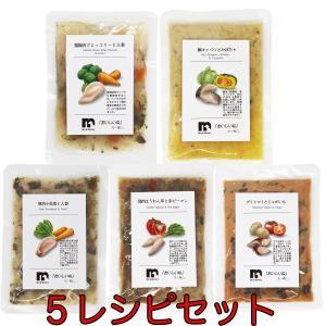 送料無料 5レシピセット ME&MOMMY レシピ5セット 人と同じ食事 無添加 ミー&マミー|ainstock
