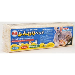ミニアニマン 快適ふんわりベッド 14L 小動物 床材 ドギーマン|ainstock