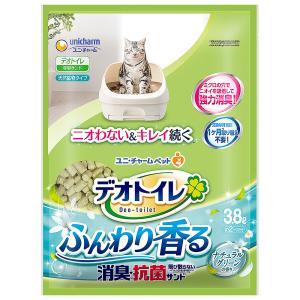 デオトイレ ふんわり香る消臭 抗菌サンド 3.8L 猫砂 ユニチャーム お一人様4個まで|ainstock