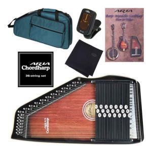 ARIA ACH-21+専用弦+教則DVD+チューナー+クロス コードハープ/オートハープ|aion