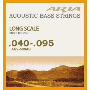 【弦×1セット】ARIA AGS-600AB アコースティックベース弦[40-95]/メール便発送・代金引換不可