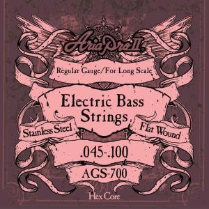 ARIA AGS-700×1セット ベース弦ロングスケール・フラットワウンド/メール便発送・代金引換不可
