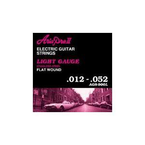 アリア ARIA AGS-900L×12セット ジャズギター弦フラットワウンド/メール便発送・代金引換不可