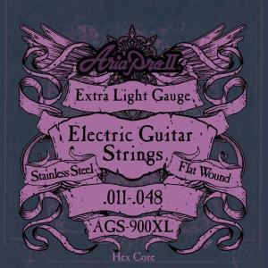 アリア ARIA AGS-900XL×6セット ジャズギター弦フラットワウンド/メール便発送・代金引換不可