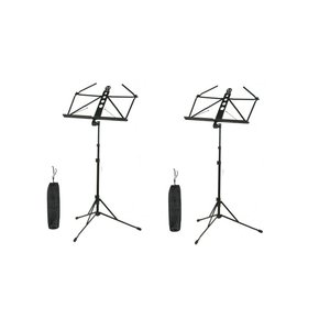 ARIA AMS-100 2台 アルミニウム製譜面台+専用ポーチ ミュージックスタンド
