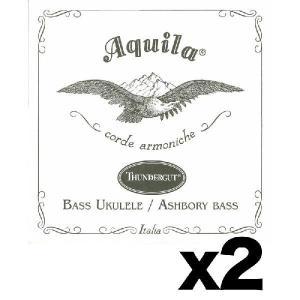 【弦×2セット】Aquila アクイーラ AQ-BU(68U)×2 THUNDERGUT ベースウクレレ弦 ウクレレベース用/メール便発送・代金引換不可|aion