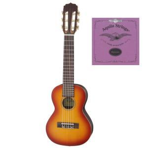 Aria AGU-160/TS/スペア弦セット付 6弦 テナーウクレレ ミニギター ギタレレG-Uke|aion