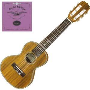 Aria ATU-180/6K/スペア弦セット付 6弦 テナーウクレレ ミニギター ギタレレG-Uke|aion
