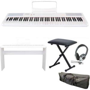 artesia Performer/WH/専用スタンド+ヘッドホン+イス+ケース付 電子ピアノ ベロシティーセンシティビティ鍵盤 デジタルピアノ aion