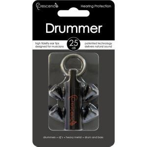 Crescendo Drummer 約25dB ドラマー用 イヤープロテクター 耳栓/メール便発送・代金引換不可|aion
