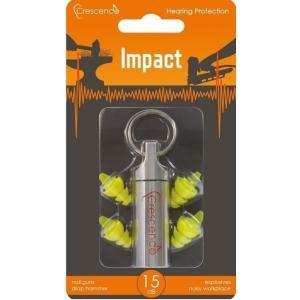 Crescendo Impact/メール便発送・代金引換不可 工具衝撃音用 イヤープロテクター 耳栓