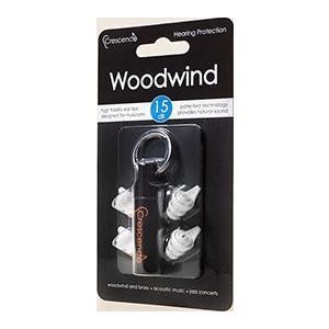 Crescendo Woodwind 15dB 管楽器用 イヤープロテクター 耳栓/メール便発送・代金引換不可|aion