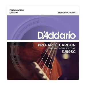 【ウクレレ弦×5セット】D'Addario EJ99SC×5 ソプラノ/コンサートウクレレ用/メール便発送・代金引換不可ダダリオ aion