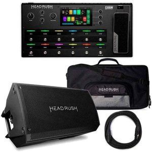 HEADRUSH PEDALBOARD + GIGBAG + FRFR-112 + ケーブル ギターアンプシミュレーター/マルチエフェクター/純正ギグバッグ+モニター+ケーブル付|aion