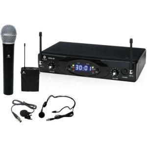 K.W.S KWS-2H/PLHS KIKUTANI デュアルチャンネル・ワイヤレスシステム w/ハンドマイク×1、ラベリア×1、ヘッドセット×1 aion