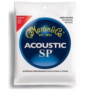 【3セットパック×1(計3セット)】MARTIN MSP4100PK3 [12-54] Phosphor Bronze LIGHT アコースティックギター 弦/メール便発送・代金引換不可 aion