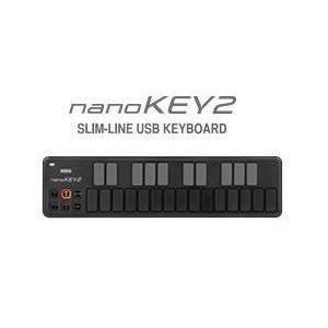 【ポイント6倍】KORG nanoKEY2/Black スリムライン・キーボード NANOKEY2-BK/送料無料|aion