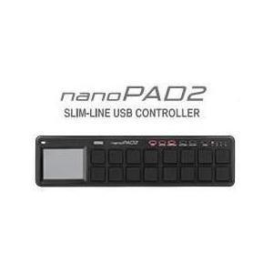 【ポイント6倍】KORG nanoPAD2/Black スリムライン・パッドコントローラー NANOPAD2-BK/送料無料|aion