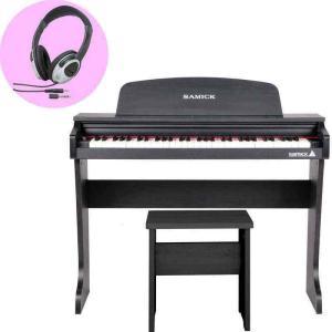 SAMICK 61KID-O2/Black/ヘッドホン付 ミニ デジタルピアノ/ブラック(黒) 61鍵盤 子供用 電子ピアノ aion